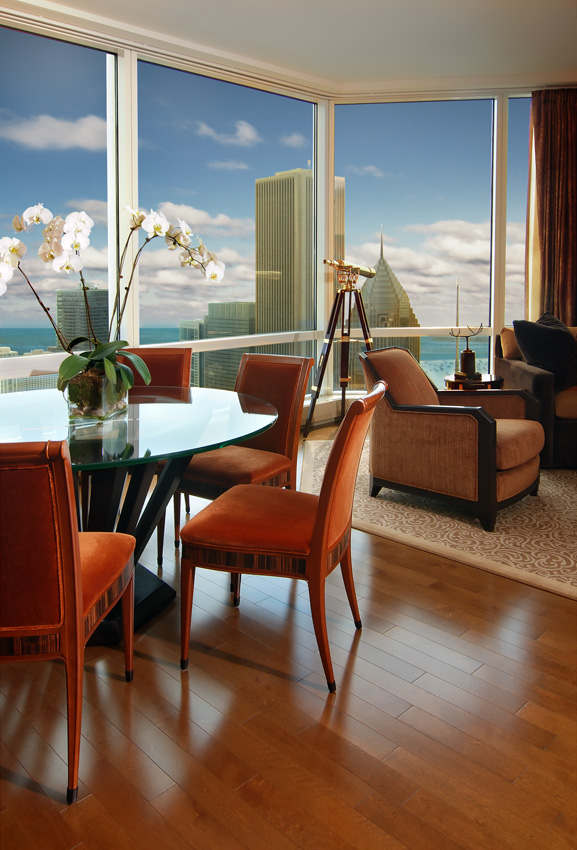 View from the Trump Tower in Chicago - High End Interior Design