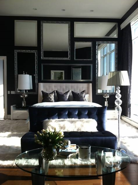 Bedroom in Chicago's Trump Tower - High End Interior Design