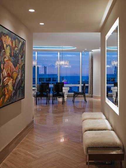 Award winning interior design inside Trump Tower of Chicago - Chicago Interior Design